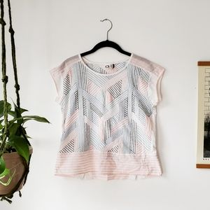 Anthropologie Akemi + Kin embroidered top
